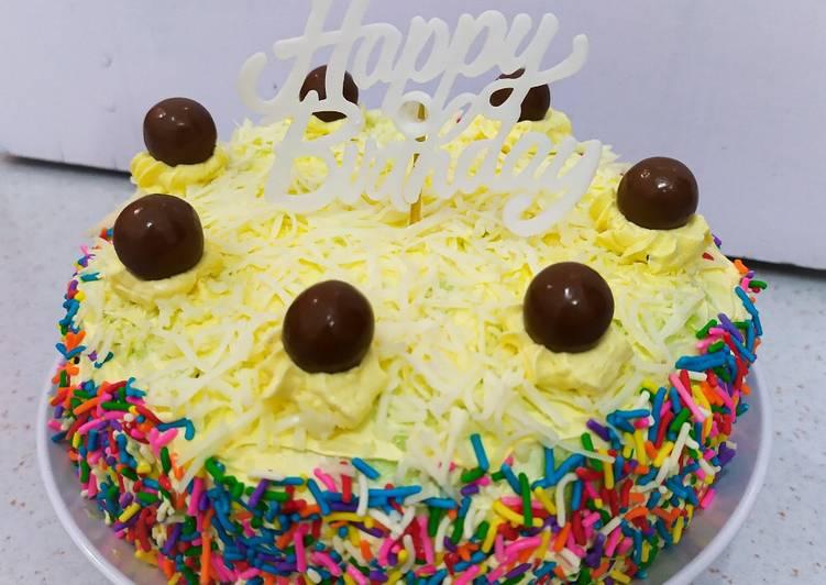 """Cara Gampang Menyiapkan Bolu Kukus Santan Pandan """"Happy Birthday""""🎂🎉❤️ Anti Gagal"""