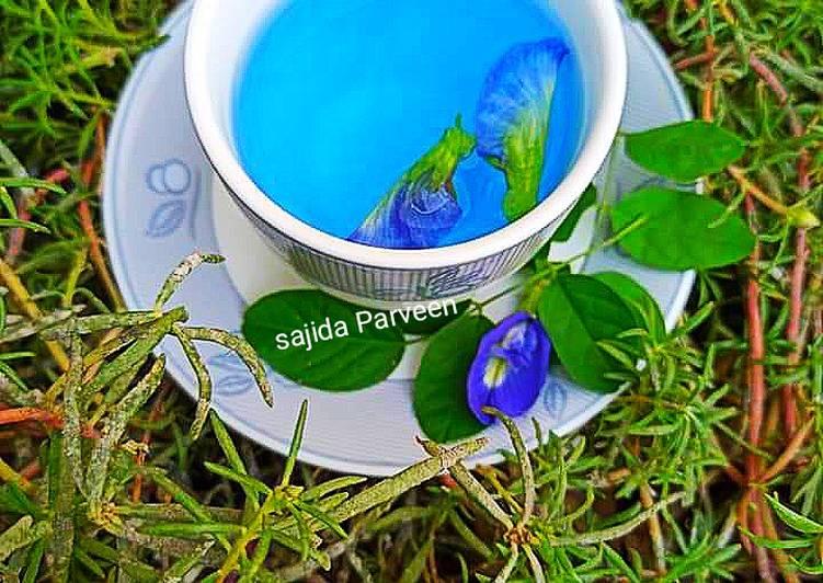 BLUE TEA | Blue Butterfly Pea Flower Herbal Tea Recipe by Sajida Perveen  786 - Cookpad