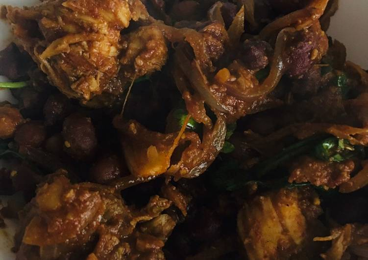 Black channa chicken roast Finding Healthy Fast Food