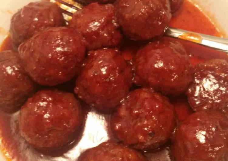 Simple Way to Make Homemade Easy BBQ Meatballs Crockpot