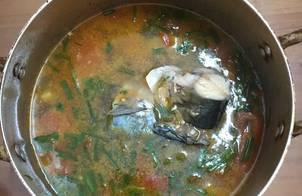 Canh cá bạc má thơm cà