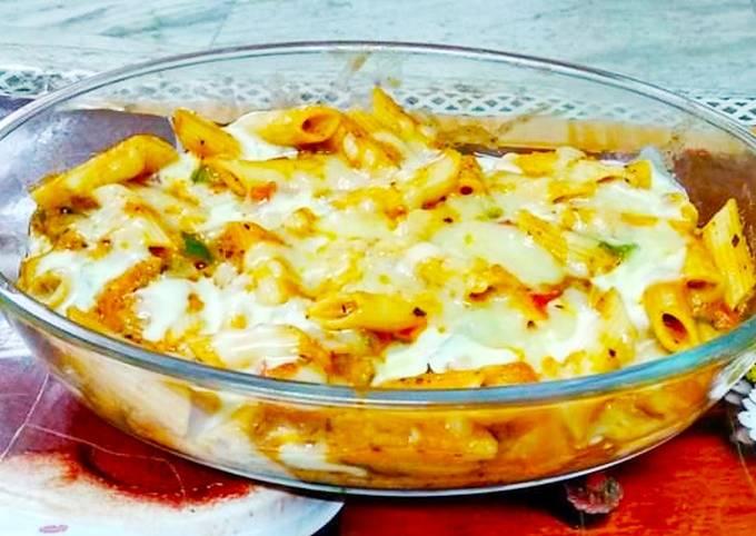 Recipe: Tasty Baked Cheesy Pasta