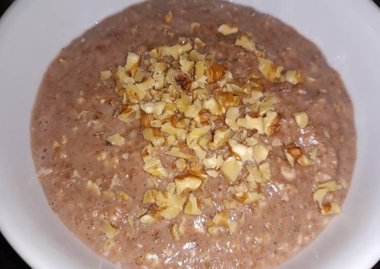 Porridge de avena con nueces