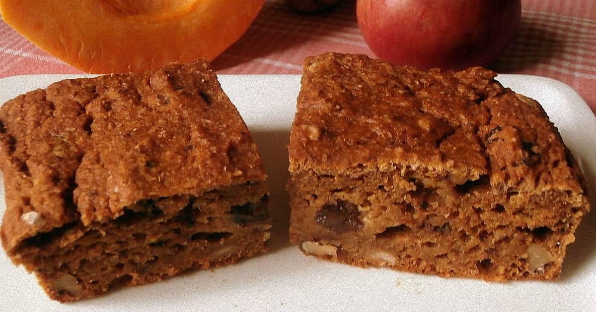 Быстрый пирог с тыквой и яблоками