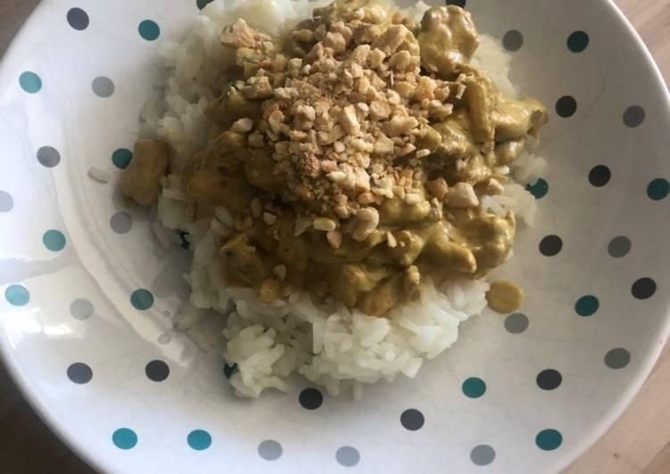 Poulet curry coco noix de cajou