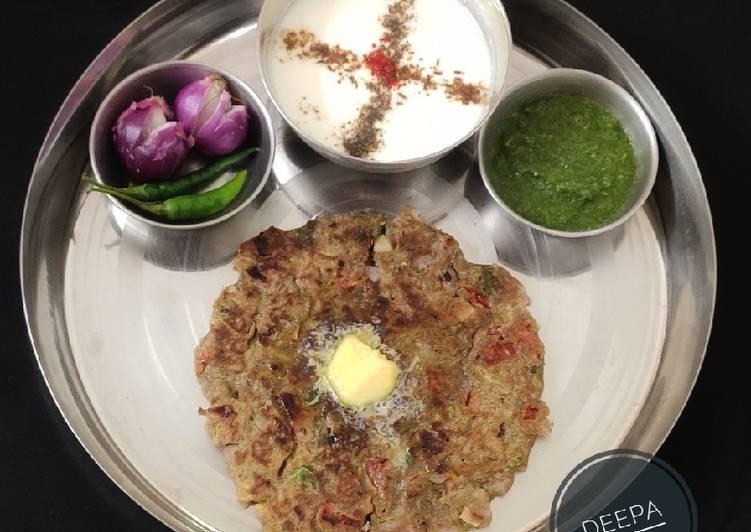 How to Prepare Quick Bajra Masala Roti (Sindhi Dish Dhodha)