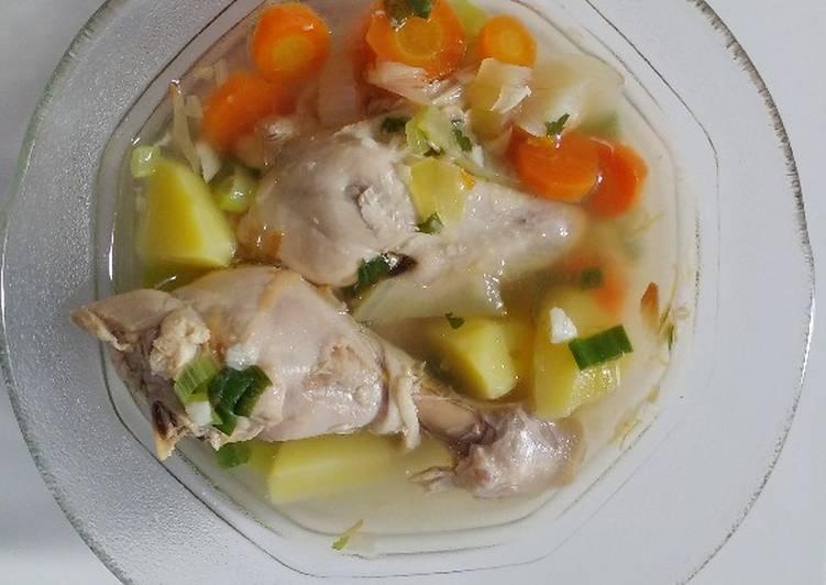 Resep Sop Ayam Bening Tanpa Minyak Dan Tumis Oleh Rafika Rangkuti Cookpad