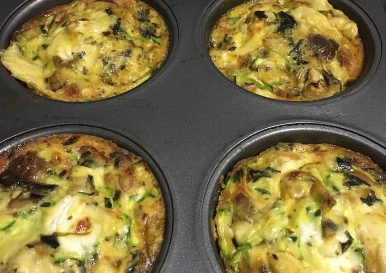 Mini Crustless veggie quiches