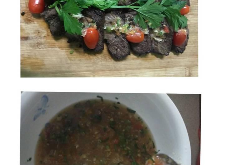 Daging madu pepper + sos ala thai