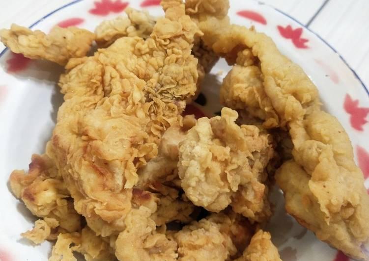 Ayam krispi 4 bahan (geprek)
