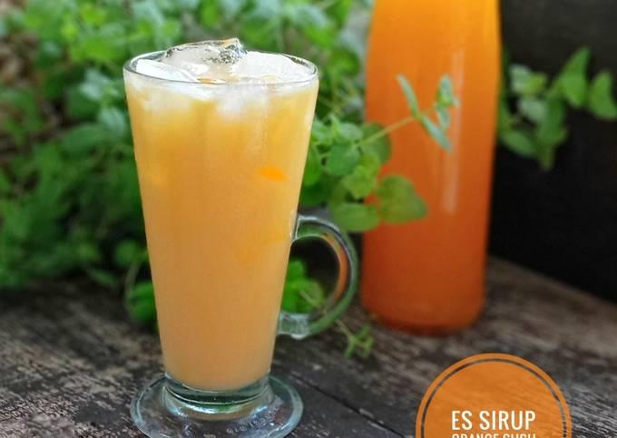🍊 Es Sirup Orange Susu 🍊