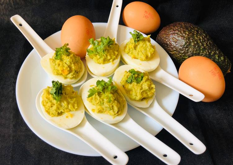Turn to Food to Elevate Your Mood Avacado Deviled Egg