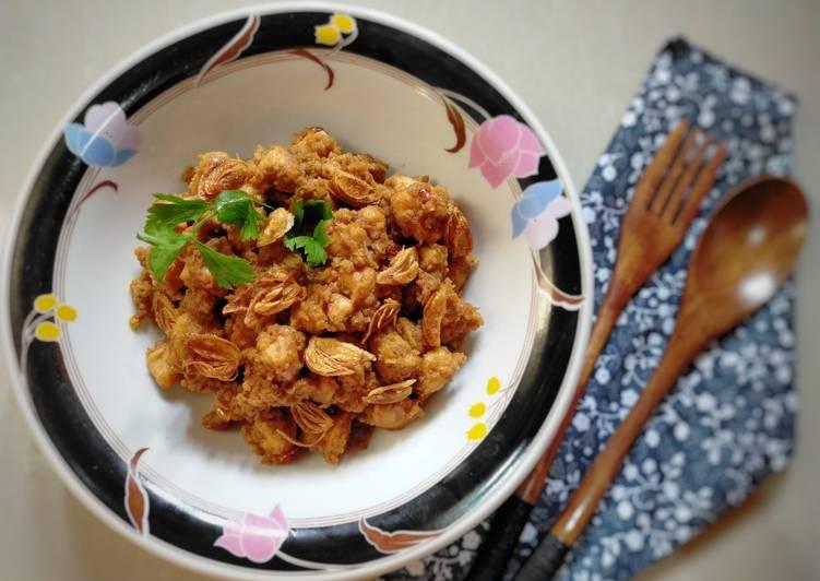Sate Goreng Ayam Bumbu Kacang