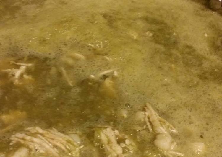 Recipe: Yummy Pozole de espinacas con pollo