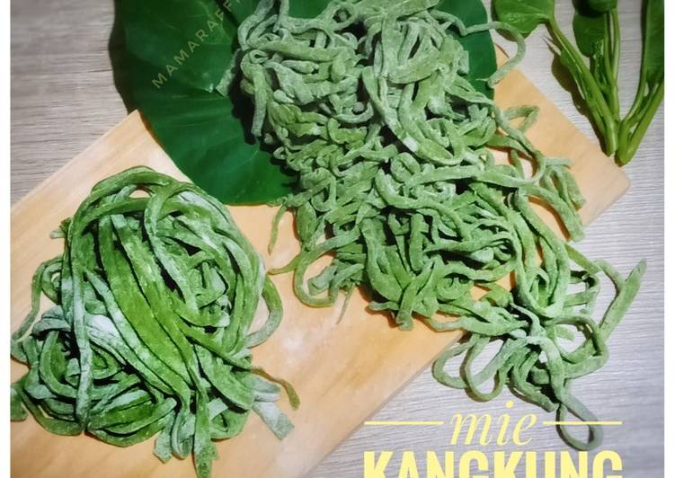 Mie kangkung homemade (no telur & giling manual)