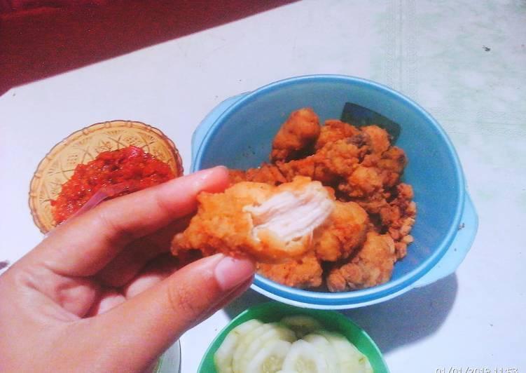 Resep Ayam goreng tepung empuk Terenak