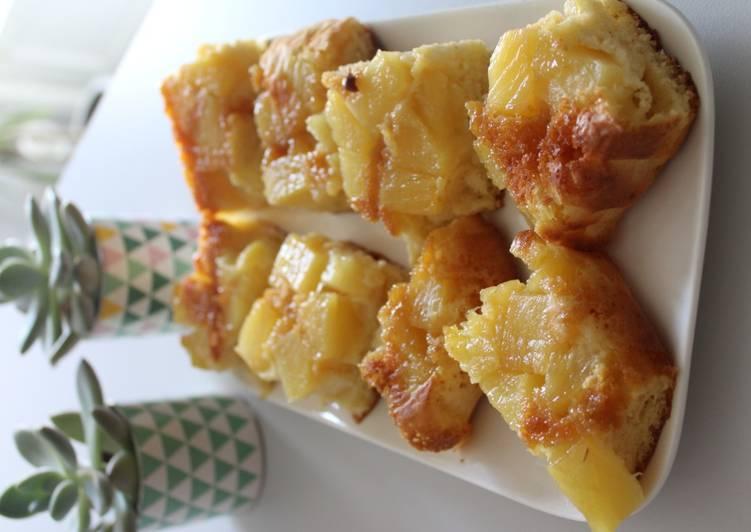 Recettes Gâteau renversé à l'ananas façon WW