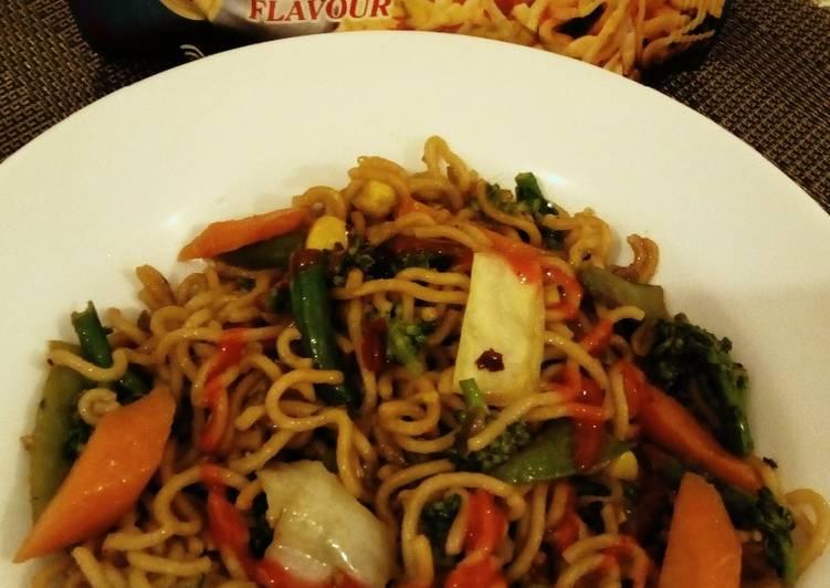 Stir Fried Vegetable Noodles#themechallenge