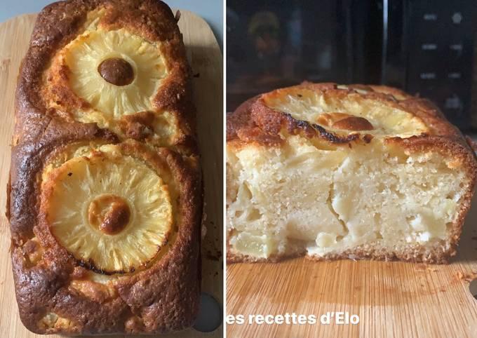 Gâteau au yaourt et ananas