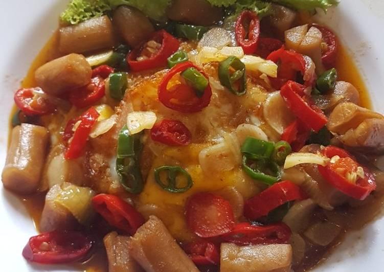 resep telur ceplok sosis