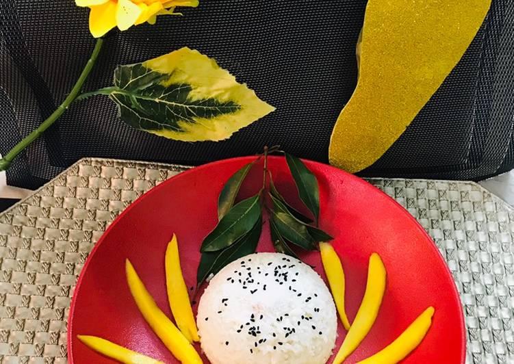 Thai mango sticky rice