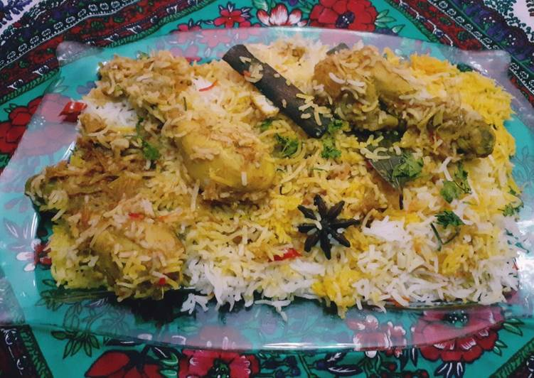 Recipe of Speedy Leftover Chicken Karai Baryani