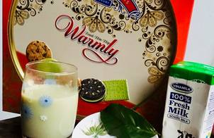 Sữa gạo tẻ-lá chè xanh-sữa tươi có đường