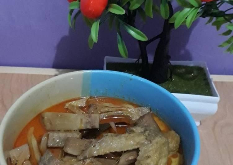 Cara Gampang Masak Gule/rendang nangka low fat, Lezat