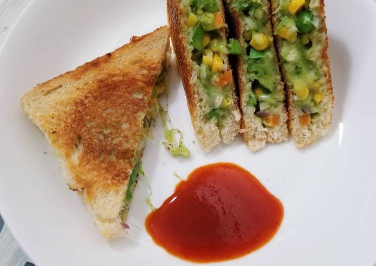 Chilli Cheese Veg Sandwich