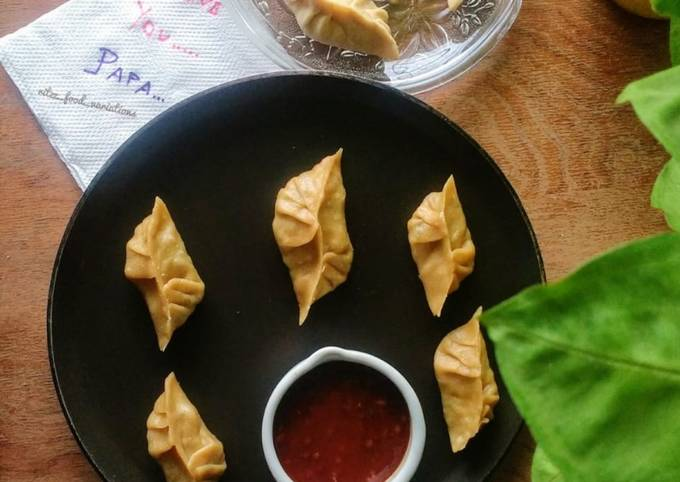 Sprouts stuffed wheat momos