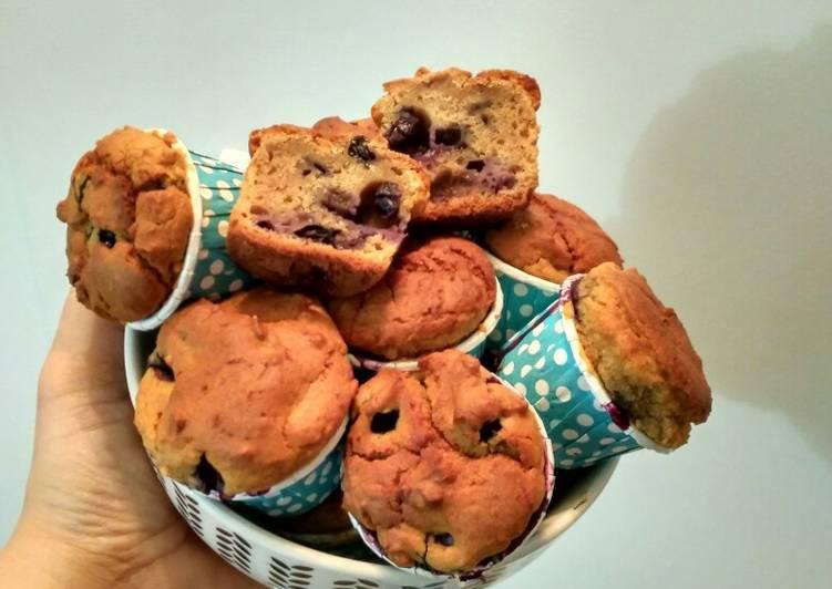 Resep Blueberry Muffins Rendah Kalori #dietDM Terenak