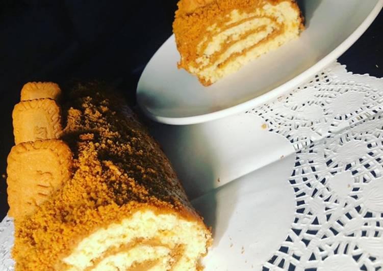 Gâteau Roullé au spéculoos