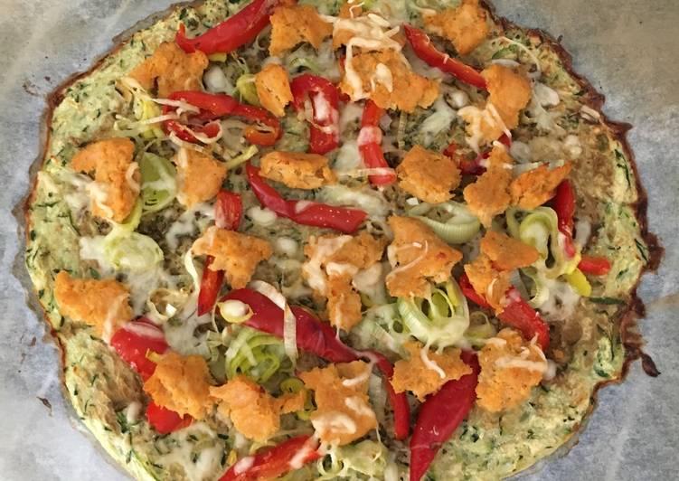Pizza con base de calabacín Receta de inmifit- Cookpad