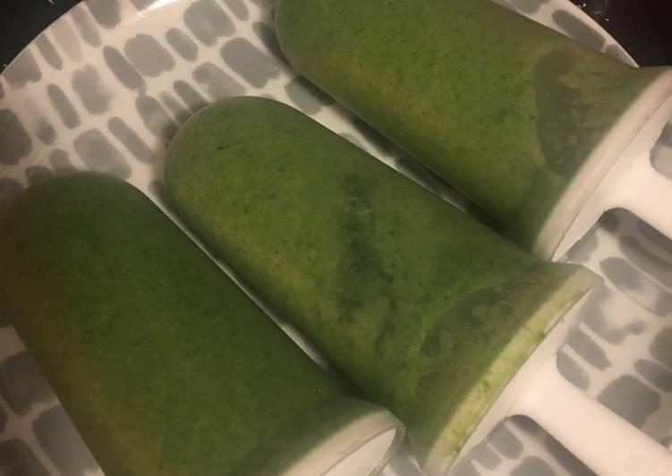 Spinach ice lolly (p10min, c0min)