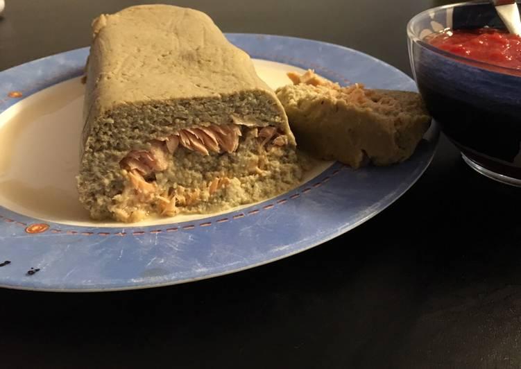 Recette de Rapide Pain d'aubergine au saumon