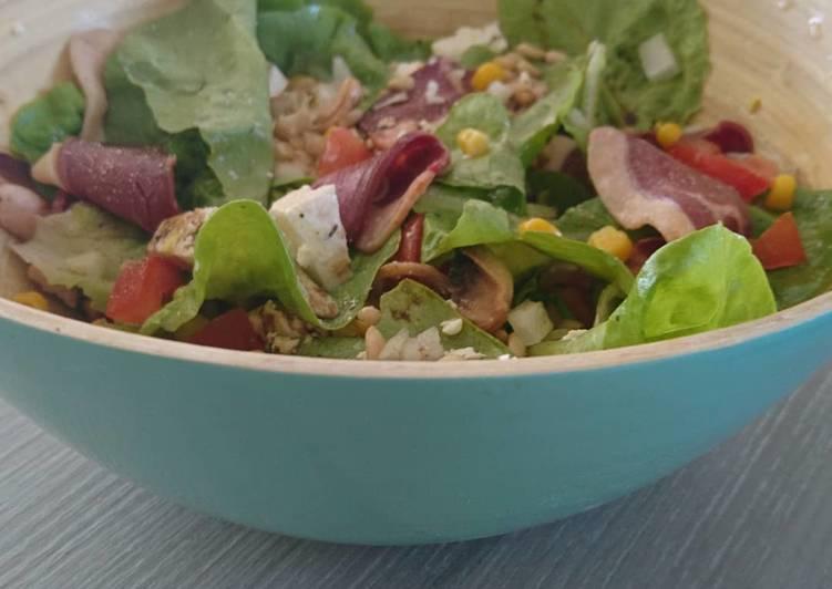 Recettes Salade magret de canard