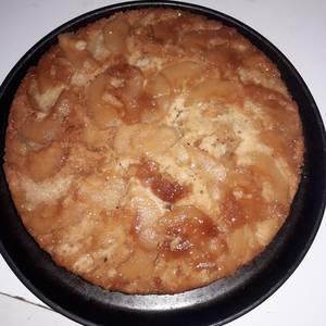 Torta de manzana invertida muy fácil ?