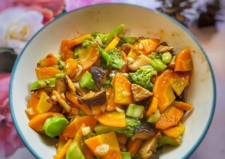 Jamur Shitake, Brokoli, Wortel ala Tiger Kitchen