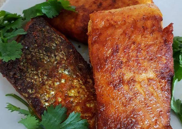 Pan Fried Salmon steaks #fishcontest