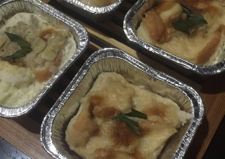 Pudding Roti Santan+gula merah
