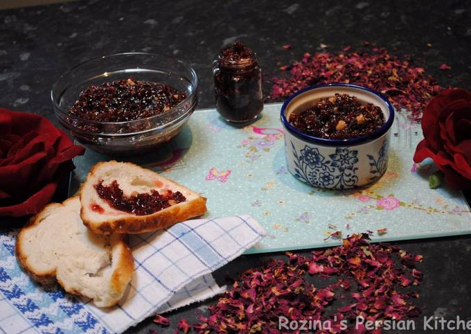 Persian rose petals jam