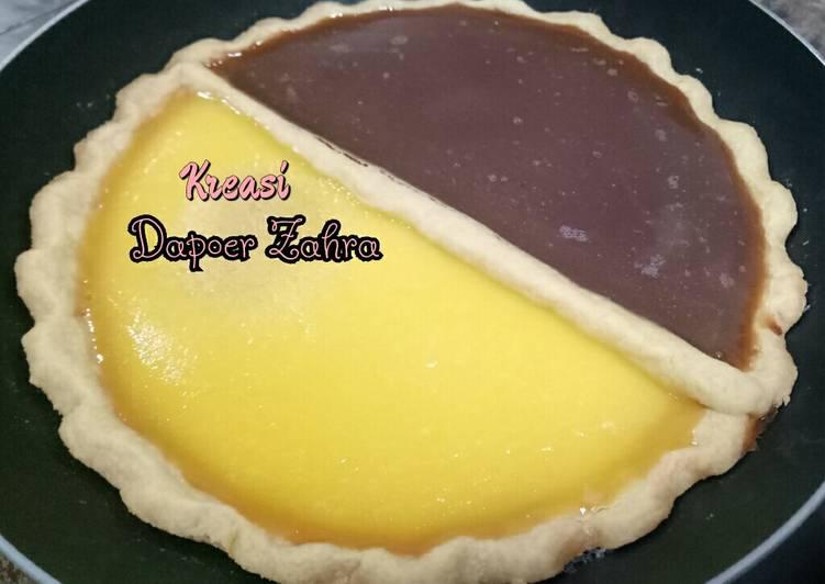 Pie Susu Coklat dan Putih