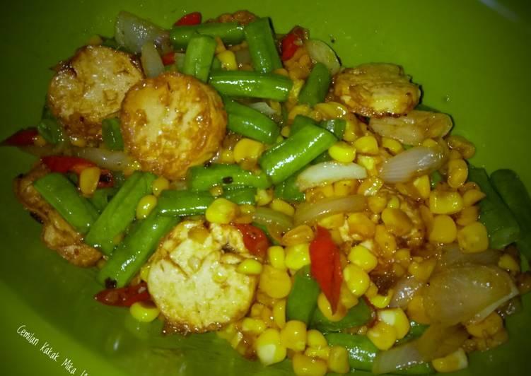 Tumis Jagung Buncis Tofu