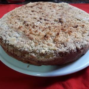 Torta alemana con masa madre (Apfelkuchen)