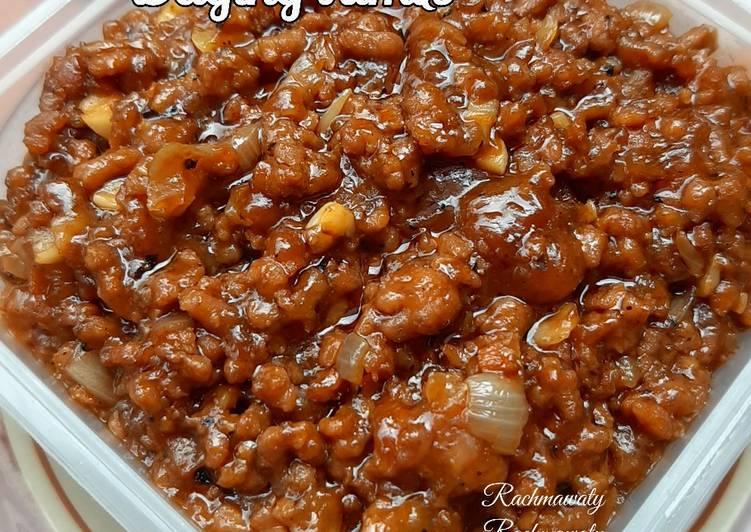 Cara Menyajikan 78.Daging Tumis (Isian pao/bapao,roti), Bisa Manjain Lidah