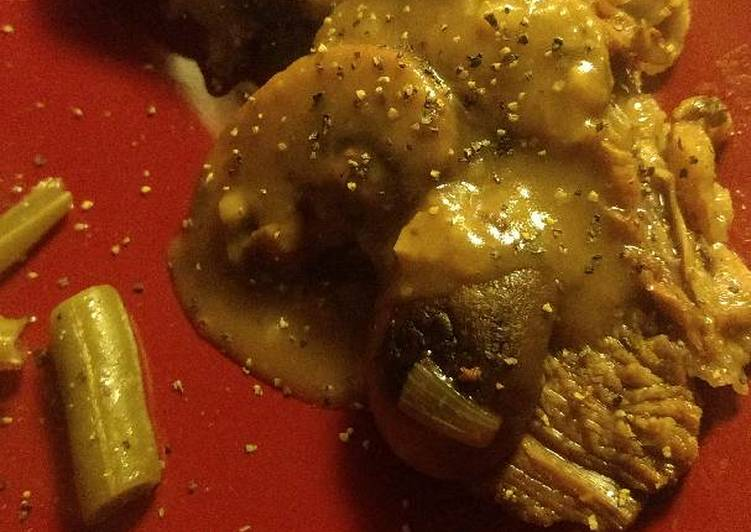 Simple Way to Prepare Quick Slow cooker tri tip with pan gravy