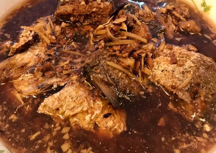 Ikan belanak masak tauco / cuan cuan