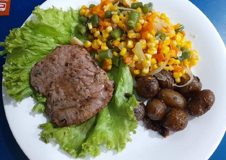 Steak sapi rumahan easy