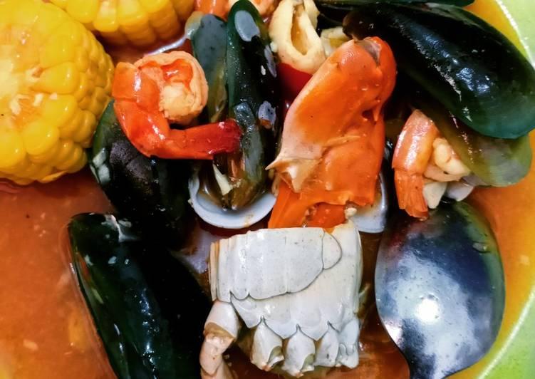 Seafood saus asam pedas