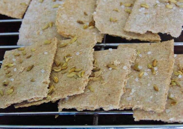 Easiest Way to Make Favorite Fennel & Rock Salt Spelt Crackers